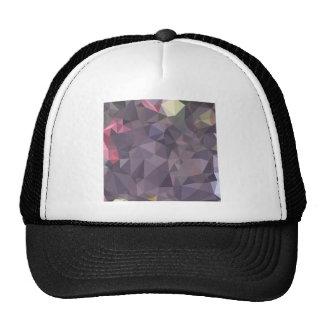 Cyber Grape Purple Abstract Low Polygon Background Trucker Hat