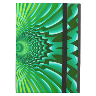 Cyber Green Neon Blue Optical Illusion Abstract iPad Air Cases