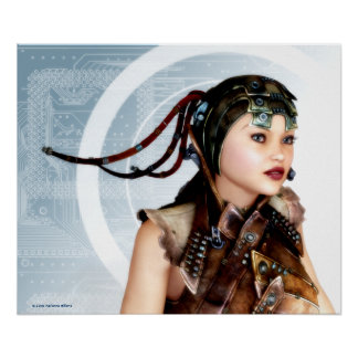 Cyber Grunge Art Poster