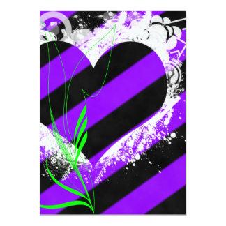 Cyber Grunge Heart Sweet 16 Birthday Invitation