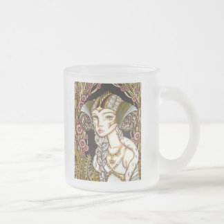 Cyber Lady Frosted Glass Coffee Mug