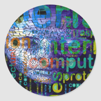 Cyber Man Classic Round Sticker