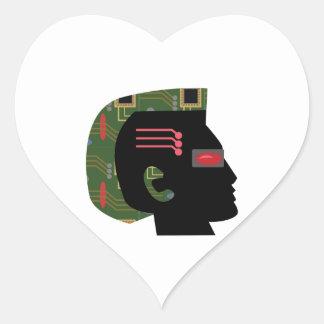 Cyber Man Heart Sticker