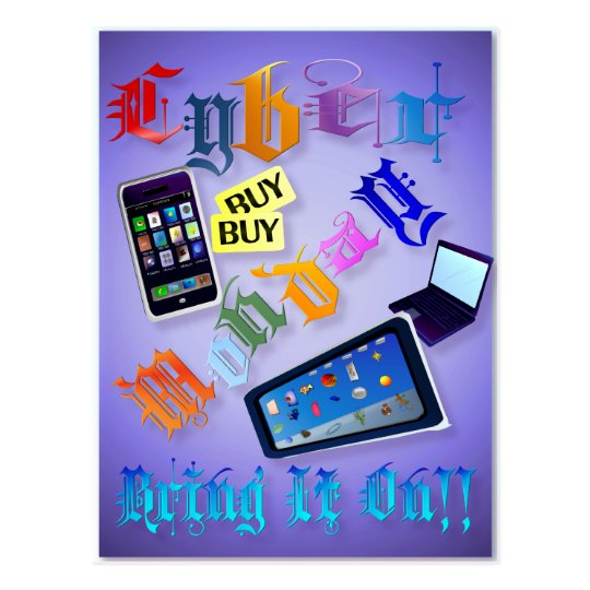 Cyber Monday-Bring It On! (2) Shirts Postcard