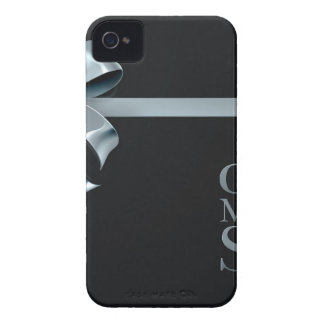 Cyber Monday Friday Sale Silver Ribbon Bow Design iPhone 4 Cover