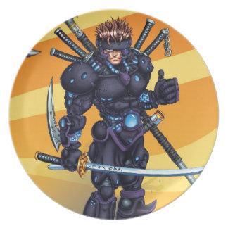 Cyber Ninja Dinner Plate