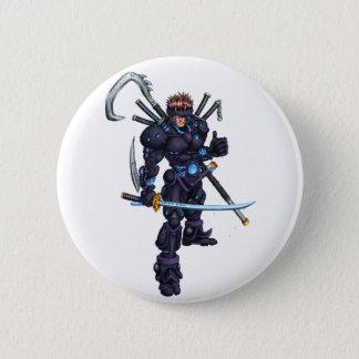 Cyber Ninja Pinback Button