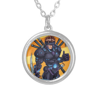Cyber Ninja Silver Plated Necklace