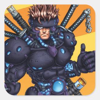 Cyber Ninja Square Sticker