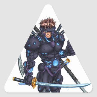 Cyber Ninja Triangle Sticker