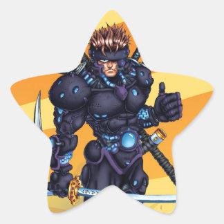Cyber Ninja Star Sticker