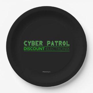 Cyber Patrol Paper Plate