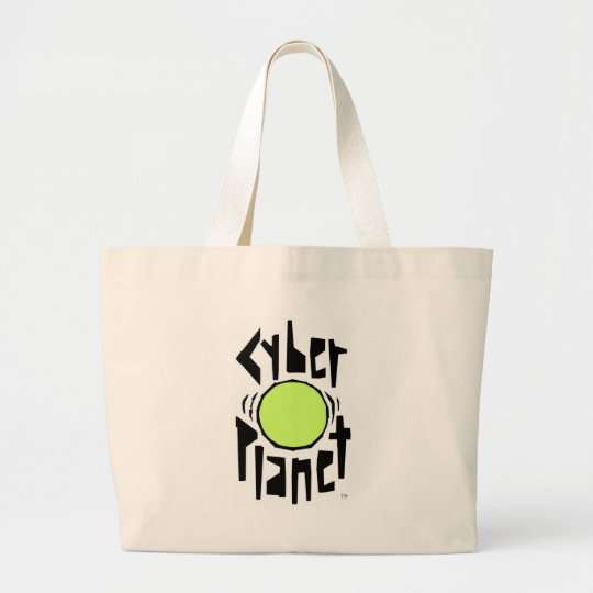 CYBER PLANET COOL LARGE TOTE BAG