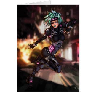 Cyber Police Manga Girl Card