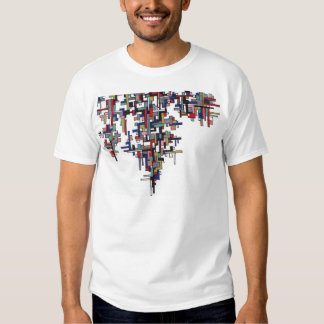 Cyber Pop Abstract Fractal Crystal Tee Shirt