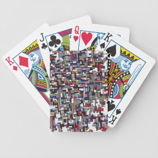 Cyber Pop Abstract Fractal Designs Bicycle Playing Cards
