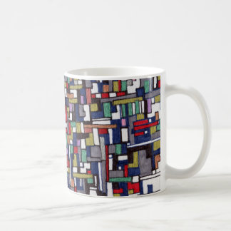 Cyber Pop Abstract Fractal Designs Coffee Mug