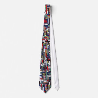 Cyber pop Abstract Fractal Designs Tie