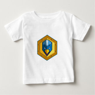 Cyber Punk Chicken Hexagon Icon Baby T-Shirt