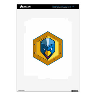 Cyber Punk Chicken Hexagon Icon Decal For iPad 3