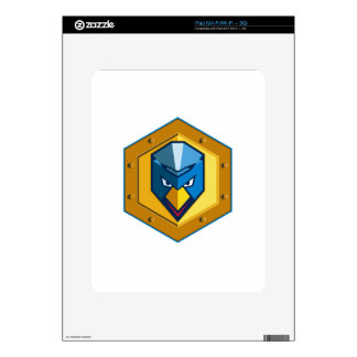 Cyber Punk Chicken Hexagon Icon Decals For The iPad