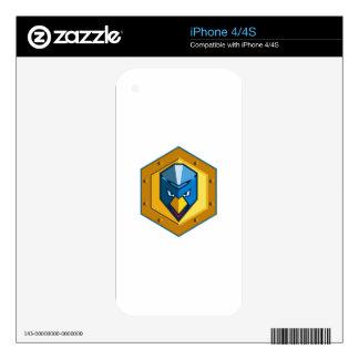 Cyber Punk Chicken Hexagon Icon iPhone 4 Skins