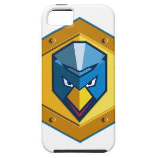 Cyber Punk Chicken Hexagon Icon iPhone SE/5/5s Case