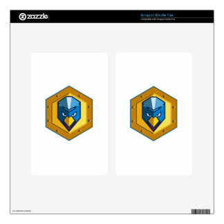 Cyber Punk Chicken Hexagon Icon Kindle Fire Decals