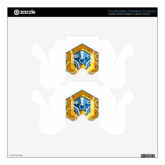 Cyber Punk Chicken Hexagon Icon PS3 Controller Decal