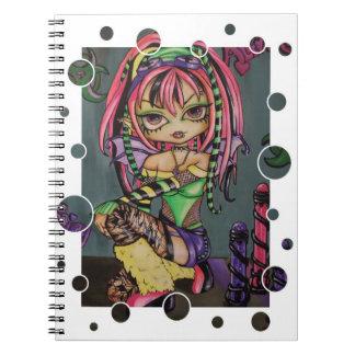 Cyber Punk Fairy Gothic Bio hazard Spiral Notebook