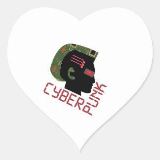 Cyber Punk Heart Sticker