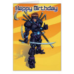 Cyber Samurai Birthday Cards