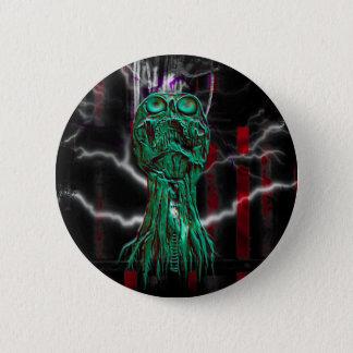 Cyber Scream Gothic Skull Pinback Button