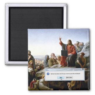 Cyber Sermon 2 Inch Square Magnet