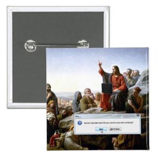 Cyber Sermon 2 Inch Square Button