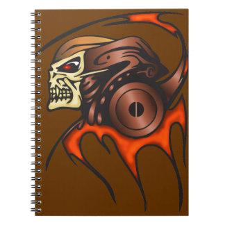 Cyber Skull Warrior Notebook