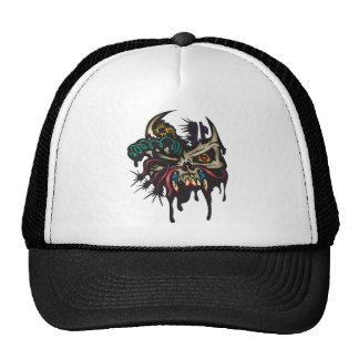 Cyber Skull With Horns Trucker Hat