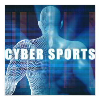 Cyber sports as a Futuristic Concept Abstract Card