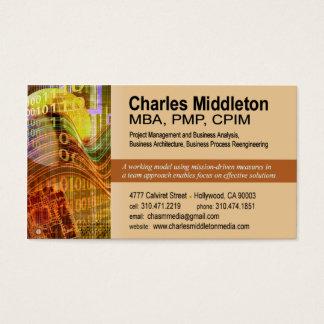 Cyber Tech-1 Business Card template (orange)