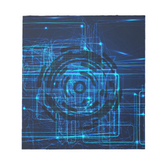 Cyber Technology Matrix Pattern Notepad