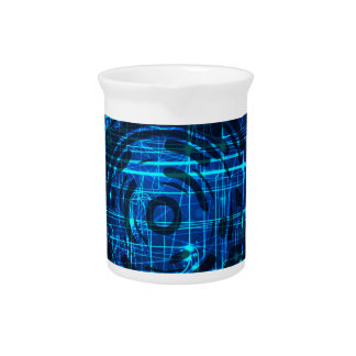 Cyber Technology Matrix Pattern Pitcher