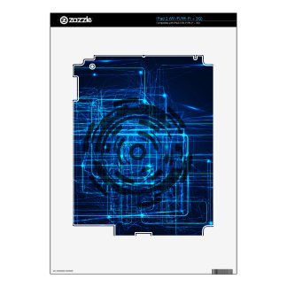 Cyber Technology Matrix Pattern Skins For iPad 2