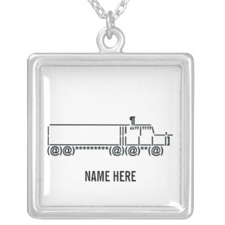 Cyber Truck Driver Symbol Silver Plated Necklace