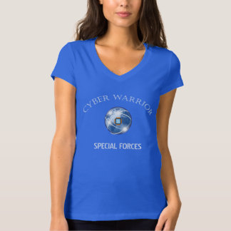 Cyber Warrior - Digital Globe T-Shirt