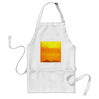 Cyber Yellow Abstract Low Polygon Background Adult Apron