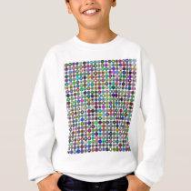 Cyberatomic flower pixel pattern sweatshirt