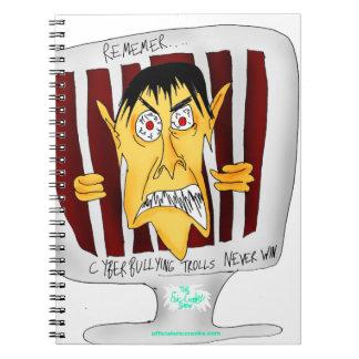 Cyberbullying Trolls NEVER WIN Spiral Notebooks