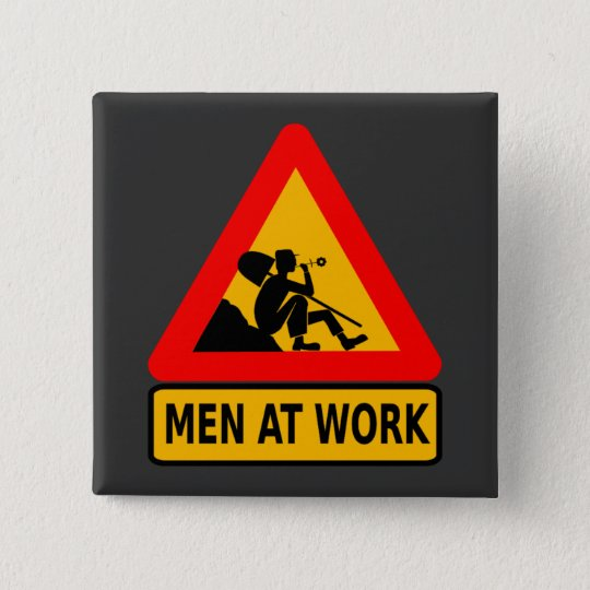 cybergedeon_man_at_work_ pinback button