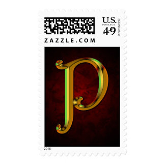 CyberGold Letter P Stamp