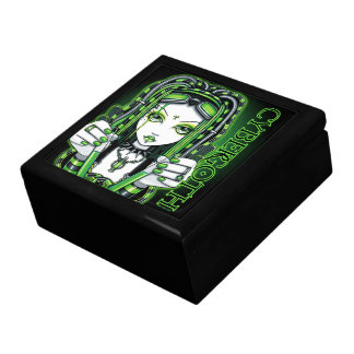 Cybergoth Green Fair Dark Industrial Tile Box